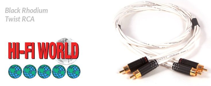 Black Rhodium Twist RCA - Récompensé par Hi-Fi World